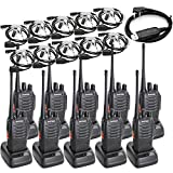 BAOFENG BF-888S Two Way Radio Long Range 16 CH Baofeng Radio and Covert Air Acoustic Tube Earpiece (Pack of 10)