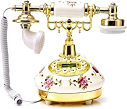 Classic Vintage Telephone - Landline Retro Innovative High - End Telephone with Antique Phone Resin Button for Home Office Decor, Retro Home Accessory Decor