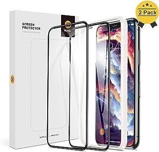 【Humixx】iPhone Xs ガラスフィルム iPhone X ガラスフィルム 2枚入り 日本旭硝子製 最高硬度10H 強化ガラス 9Dラウンドエッジ加工 全面保護 ガイド枠付き 貼りやすい 高鮮明 透過率99.9% 気泡防止 指紋防止