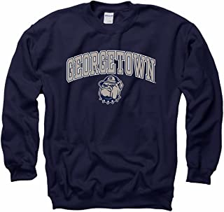 promo code 3d369 fb4b2 Campus Colors Georgetown Hoyas Arch   Logo Gameday Crewneck Sweatshirt -  Navy
