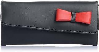 Fostelo Women's Bow Two Fold Wallet (Black)