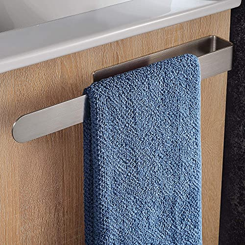 Handtuchhalter Ohne Bohren, Adkwse Handtuchhalter Bad Wand 37cm Handtuchstange Edelstahl Handtuchring klebend Gästehandtuchhalter Selbstklebend