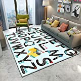 Kids Rugs for Bedroom Playroom 3D Carpet Chair Mats for Carpeted Floors Flannel Area Rug for Bathroom Living Room (60x90cm, D66)