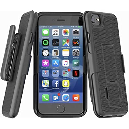 Amazon Com Encased Duraclip For Iphone Se 2020 Case With Belt Clip And Kickstand Also Fits Iphone 7 8