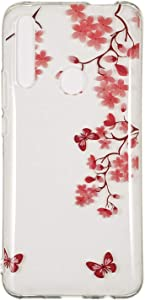 Reevermap Huawei Smart Prime 2019 Case Silicone Clear Cover for Huawei Smart Prime 2019  Anti Scratch Protective Ultra Thin Soft Shell  Plum Blossom