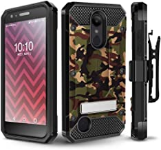 LG Aristo 2/ Aristo 2 Plus/Tribute Dynasty/Fortune 2/ Rebel 3 Case, Evocel [Explorer Series Pro] Premium Case w/Tempered Glass, Belt Clip, Kickstand for K8+/ Phoenix 3/ LG Zone 4, Camouflage