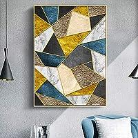 ZNLEY.O モダンな抽象キャンバスフレーム、ブルー大理石のポスター、ウォールアート、ノルディック絵画、プリント、壁の写真、リビングルームのための壁の写真 (Farbe : A, Size : 40X50cm No Frame)