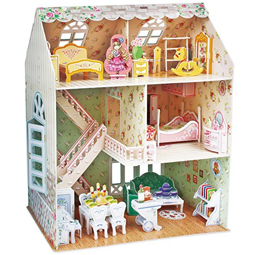 CubicFun 3D puzzles for Kids Dollhouse with Furniture for Kids Girls 8 9 10 Years Old, 160 Pieces
