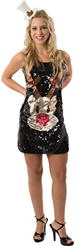 Más asequible Adult Sequin Rudolph Rudolph Rudolph Christmas Dress  suministramos lo mejor