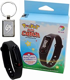 Mcbazel Brook Pocket Auto Catch Wristband Compatible for Pokemon Go Plus Catching Pokemon Collecting Item with Gam3Gear Keychain