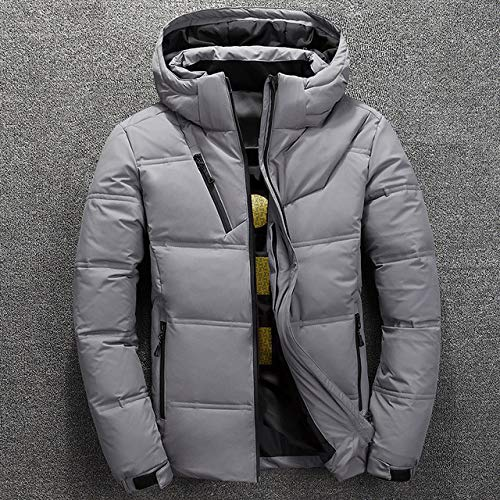 YYMMQQ Chaqueta de Plumas, White Duck Down Parkas Men Winter Down Jacket Men's Thick Warm Snow Parka...