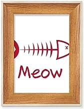 Peixe Osso Mewing Animal Desktop Moldura de madeira para fotos de exibição de imagem Arte Vários Conjuntos