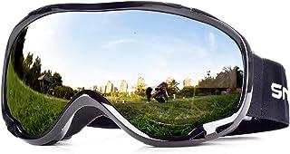 Snowledge Gafas de Esquí, Máscara Gafas de Esqui Hombre Snowboard Nieve Espejo para Hombre Mujer Adultos Juventud Chicos Chicas Anti Niebla Gafas de Esquiar OTG Protección UV Esférica Lente