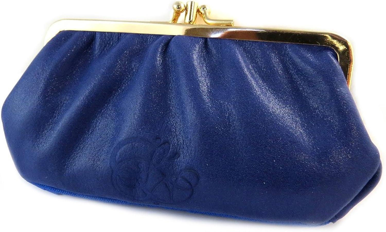 Les Trésors De Lily [N9025]  Purse sequined leather purse 'Les Trésors De Lily' bluee de france (3 compartments) 17.5x10x4 cm (6.89''x3.94''x1.57'').