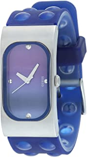 Guess I50353L3 Bubbled Silicone Rectangle Analog Watch for Women - Blue
