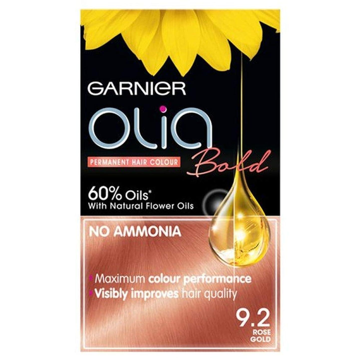 誰手書きその結果[Garnier ] 大胆なガルニエのOliaは金永久染毛剤をバラ - Garnier Olia Bold Rose Gold Permanent Hair Dye [並行輸入品]