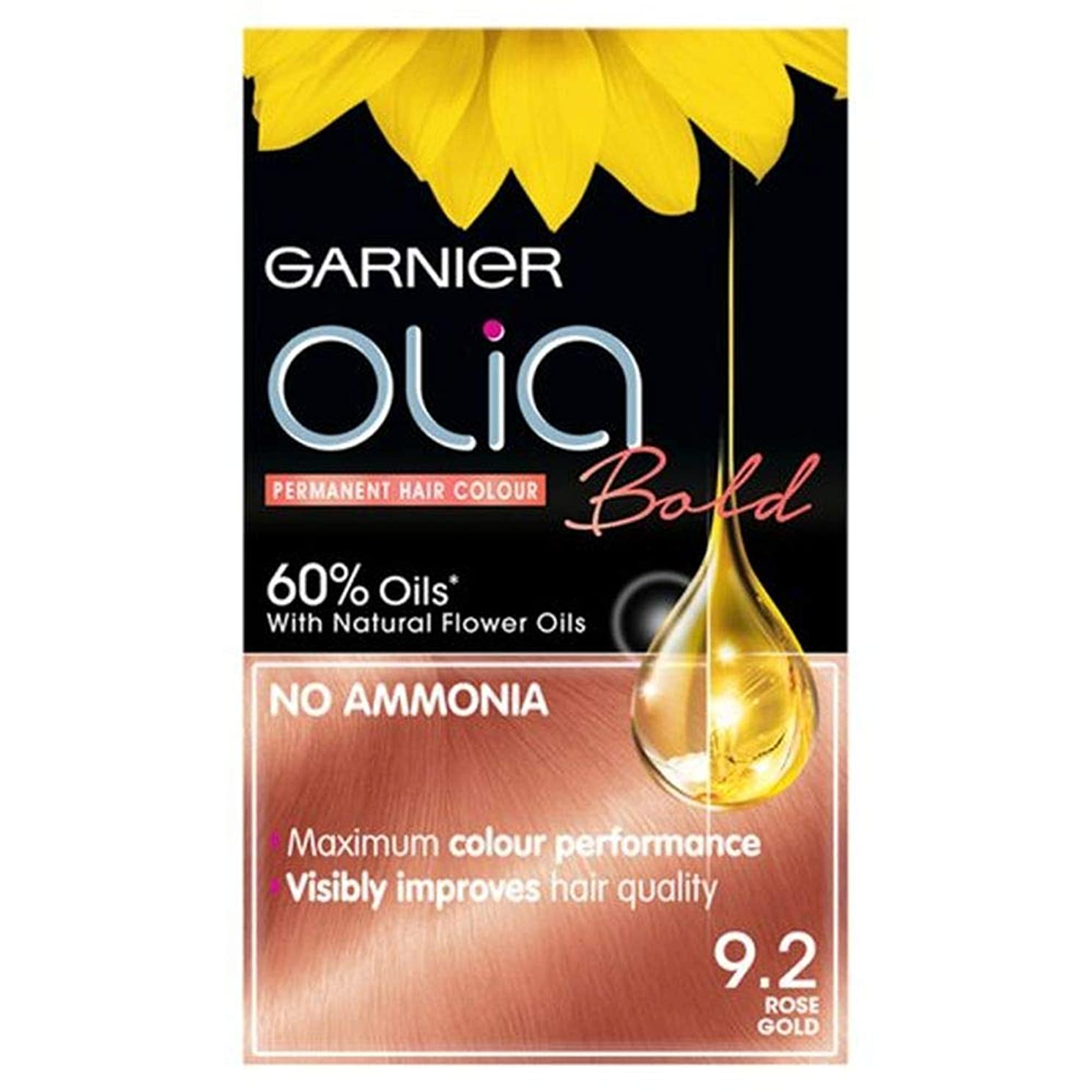 捧げるたらいトランジスタ[Garnier ] 大胆なガルニエのOliaは金永久染毛剤をバラ - Garnier Olia Bold Rose Gold Permanent Hair Dye [並行輸入品]