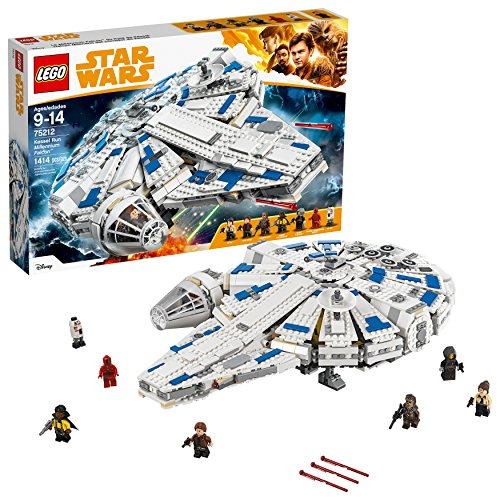 LEGO Star Wars Solo: A Star Wars Story Kessel Run Millennium Falcon 75212 Building Kit and Starship Model Set, Popular Building Toy and Gift for Kids (1414 Pieces)