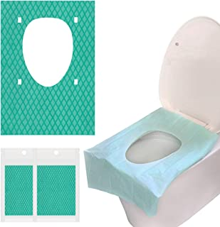 LinkIdea Disposable Toilet Seat Covers for Toddler Travel, Waterproof Individually Portable Public Toilet Covers Training ...