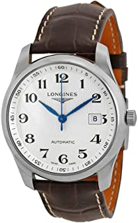 Longines Master Silver Dial Brown Leather Watch