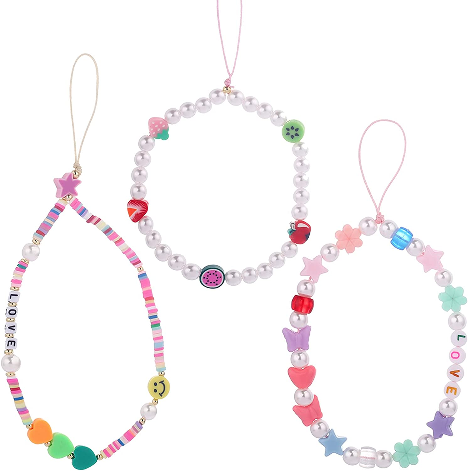 Beaded Phone Super popular specialty store Fixed price for sale Charm Strap Y2K Decoration Lanyard Sm Rainbow