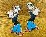 Popeye The Seemann - Juego de pegatinas para coche (2 unidades), diseño de cómic