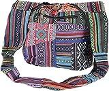 GURU SHOP Schultertasche, Hippie Tasche, Goa Patchwork Schulterbeutel, Herren/Damen, Mehrfarbig, Baumwolle, Size:One Size, 30x30x8 cm, Bunter Stoffbeutel