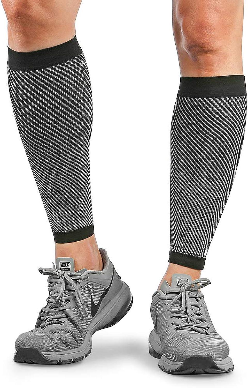 Merssyria Calf Compression Sleeves for Men  Footless Leg Support Sleeve (2030mm Hg) for Shin Splint, Leg Cramps, Calf Pain Relief, Running, Nurses, Circulation
