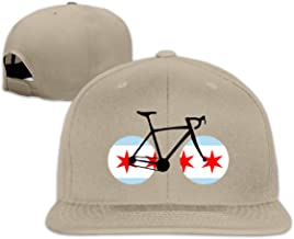Chicago Flag Bicycle Men&Women Baseball Caps, Adult Hiphop Snapback Cap