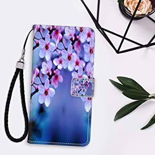 Apple iPhone 11 Pro Max 6.5inch Cherry Blossom Wallpaper Leather Folio Flip Case Magnetic Clasp