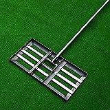 YONIISEA Golf Garden Hierba Levelawn con Asa, del Jardn de Golf con Asa De 47 Pulgadas Gran Capacidad de Acero Inoxidable Pesado Herramienta de Nivelacin de Csped Equipo De Golf