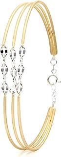 Braccialetto di fascino - Gioielli veri - Gioielli da donna - Braccialetto di design - Oro rosa - Argento - Oro