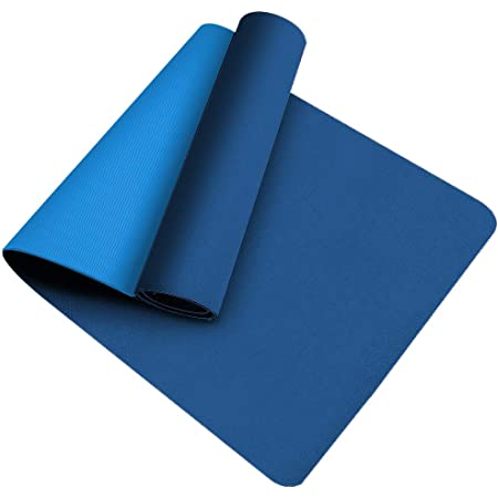 Tappetino da Yoga , Ecologico TPE Double-Sided Antiscivolo Yoga Mats Tappetino Palestra per Fitness Pilates e Ginnastica 181 cm x 61 cm x 0.6 cm