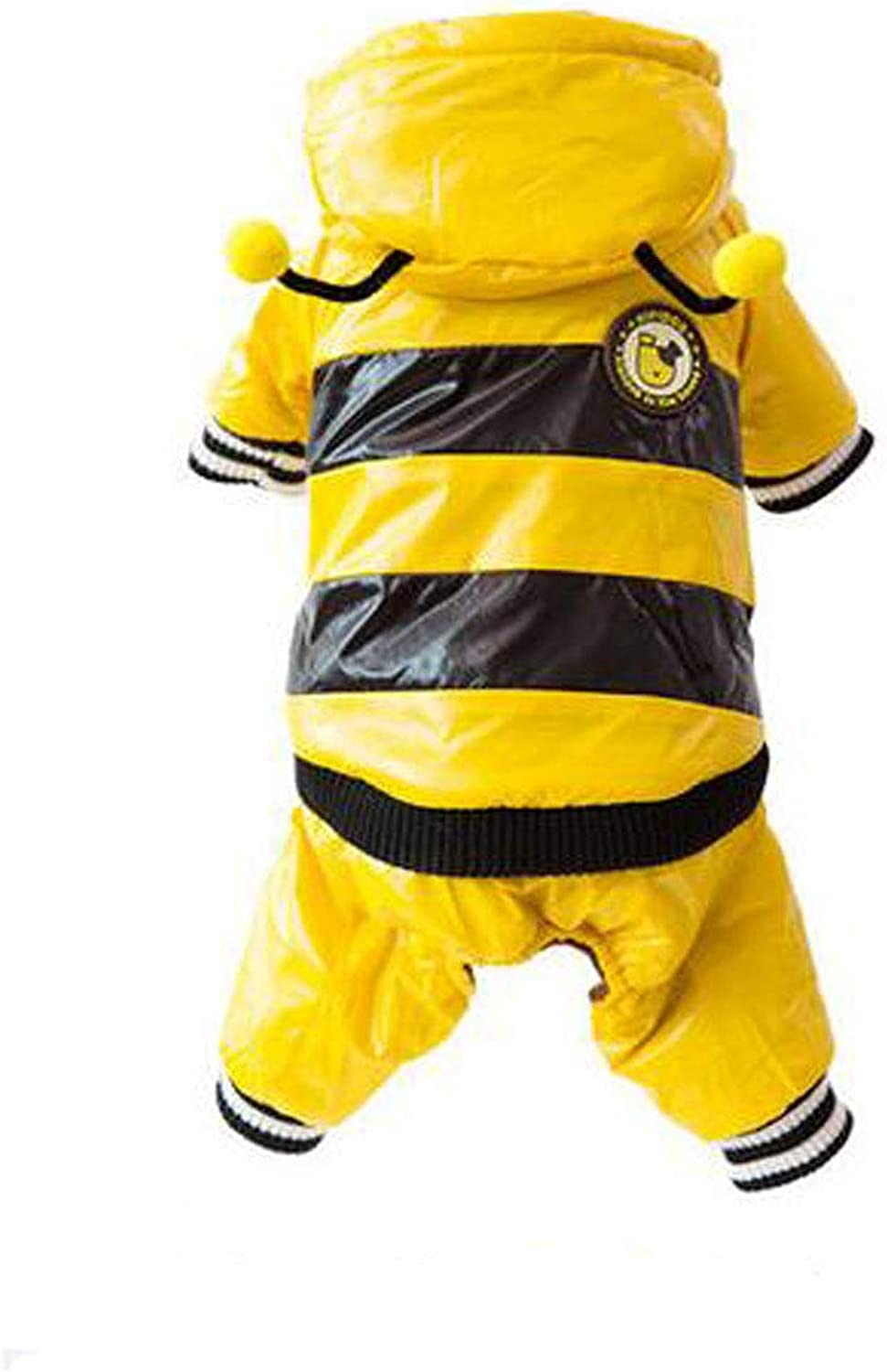 Dog Clothes, Bee Style Down Jacket, Teddy Four Legs Autumn and Winter Clothes (color   Yellow, Size   XS)