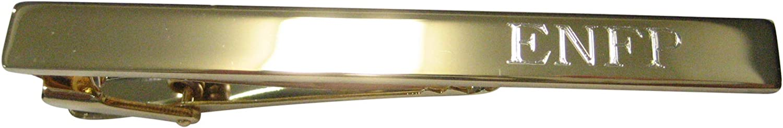 Kiola Designs Gold Toned Etched Myers Briggs ENFP Tie Clip
