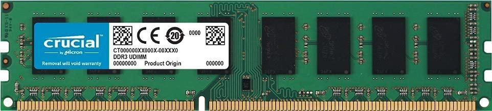 Crucial CT51264BD160BJ - Memoria RAM de 4 GB (DDR3L, 1600 MT/s, PC3L-12800, Single Rank, DIMM, 240-Pin)