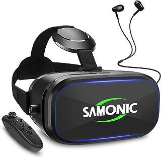 SAMONIC 3D VRゴーグル 「イヤホン、Bluetoothコントローラ、日本語説明書付属」 (ブラック)