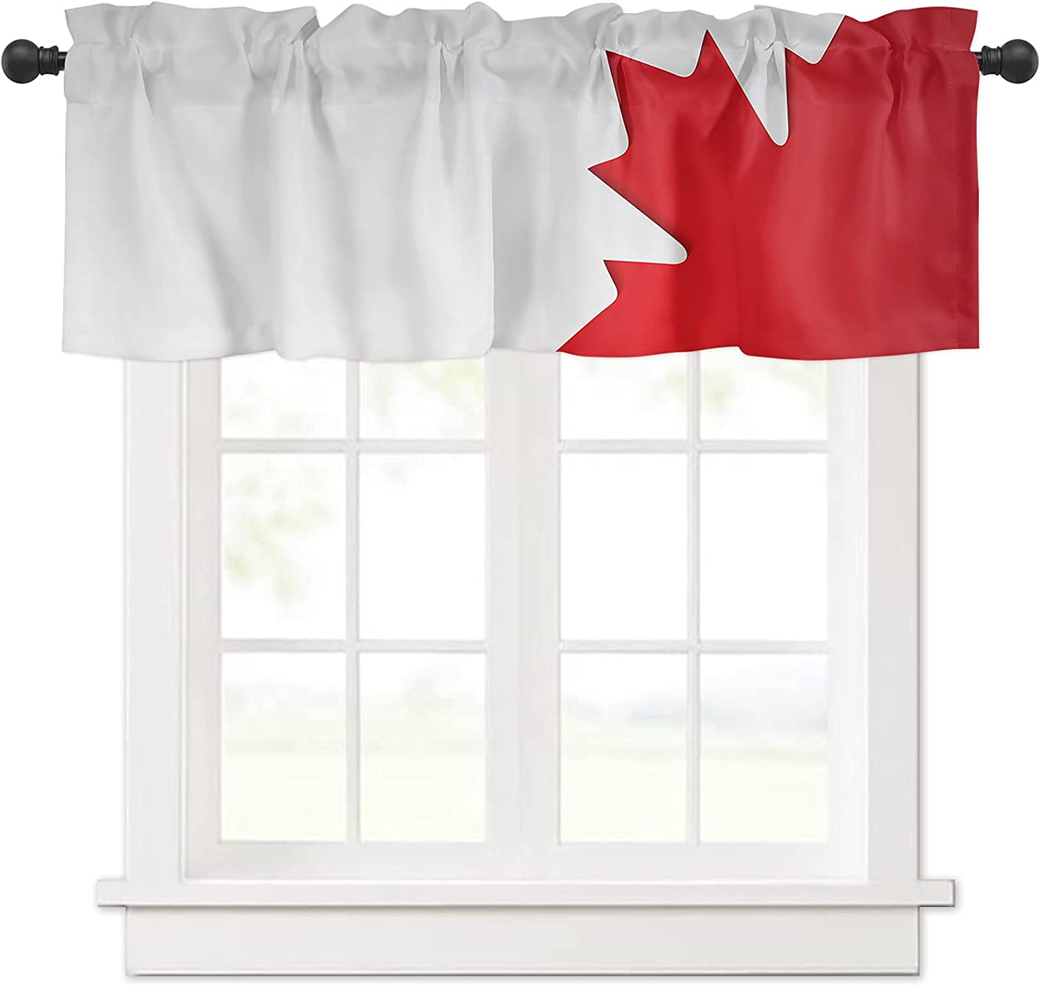 Canada Purchase National Day Maple Ranking TOP12 Flag Valances Trea Curtain Windows for