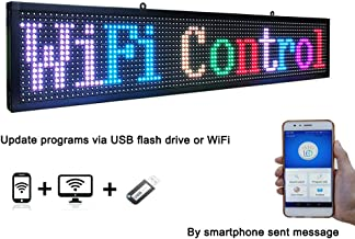 P10 WiFi LED Sign Indoor 7 Color LED Scrolling Display Message Board Programmable by WiFi & USB