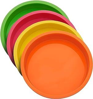 Uarter Moule à Gâteau Rond en Silicone 20cm(8 Pouces), Moule Rond Anti-adhésifs sans BPA Moulle à Patisserie Fête d'annive...