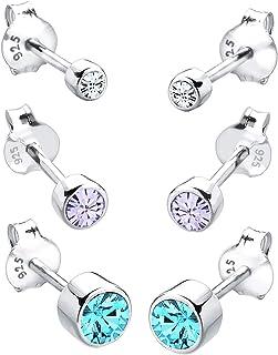 Fake Plug piercing oreja pendientes estrella Pentagram motivo en ambos lados 10mm