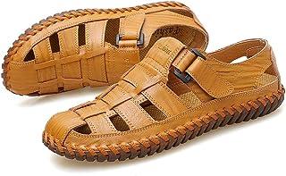 Apragaz Sandalias para Hombre Sandalia de Pescador al Aire Libre de Verano Sandalias Transpirables a pie de Playa Zapatillas de Doble Uso Color : Marr/ón, tama/ño : 38 EU