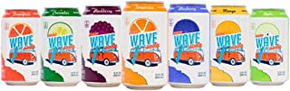 New Wave Soda Natural Soda Canned Fruit Juice, 7 Flavor Variety, Healthy Soda Caffeinated Sparkling Water | Vegan, Keto, G...