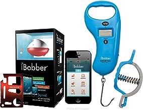 ReelSonar iBobber Classic Wireless Bluetooth Smart Fish Finder, Bluetooth Scale/Tape Measure 99Lb/45kg & Fish Lip Gripper, Blue & Zonoz 11-in-1 Mini Pocket Multi-Z-Tool (Bundle)