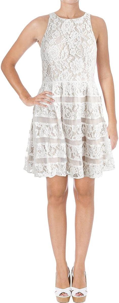 Aidan by Aidan Mattox Women's Strtch Lace Party Dress