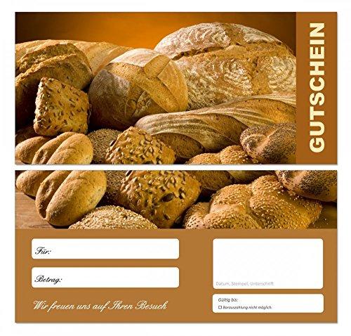 10 Stück Premium Geschenkgutscheine (Bäcker-668) - Ein schönes Produkt für Ihre Kunden Brot Brötchen Semmeln Gutscheine Gutscheinkarten für Bereiche wie Gastronomie, Bäcker, Konditor, Gaststätte und vieles mehr
