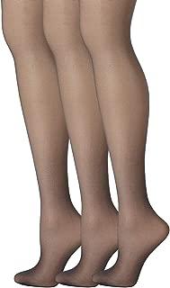 Womens Set of 3 Silk Reflections Control Top Sheer Toe Pantyhose