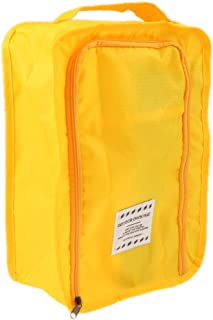 Prettyia Waterproof Travel Outdoor Home Tote Laundry Shoe Pouch Storage Bag-Yellow