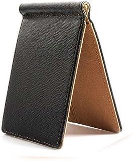 【LudusFelix】マネークリップ メンズ カードケース 札入れ スリムレザー 薄い財布 二つ折り財布