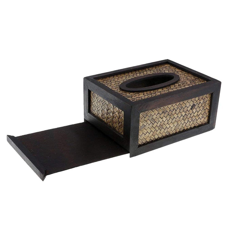 欠如ところで祭司HPYOD HOME ホテルのレストランのためのレトロな木製のティッシュ箱のナプキンのトイレットペーパー箱のホールダー